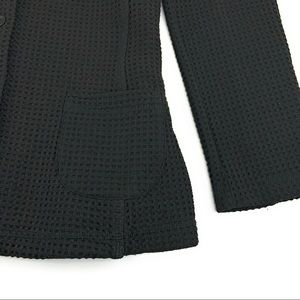 Eileen Fisher Jackets & Coats - Eileen Fisher Black Waffle Textured Blazer
